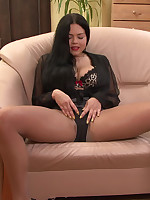 Shione Cooper- G cups pantyhose tease