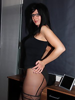 MILF secretary dressed in black