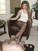 Missy hot foot worship and trample