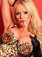 Smoking hot bitch Lucy Zara is in the Boudoir wearing a very sexy Lingerie set with no panties on, louboutin's and smoking a cigarette, especially for you