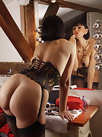 Hot Milf Desyra Masturbates In Corset And Nylons